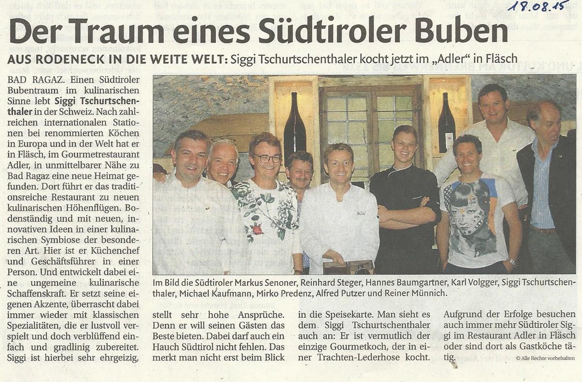Pressebericht Siggi Tschurtschenthaler